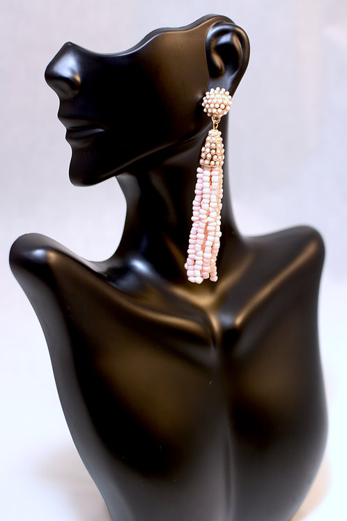 Baublebar - Sugarfix  Tassel Drop Earrings - (Blush)