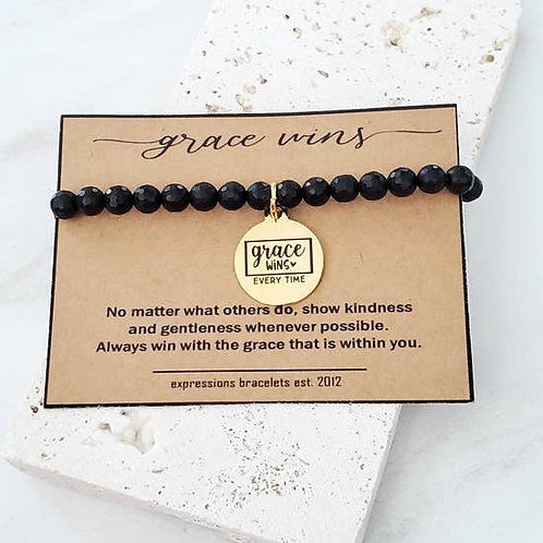 Expressions Bracelets - Grace Wins Beaded Bracelet