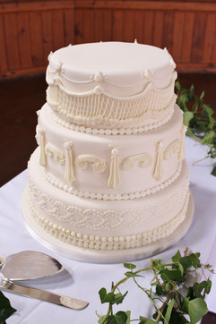 3 tier royal iced wedding cake