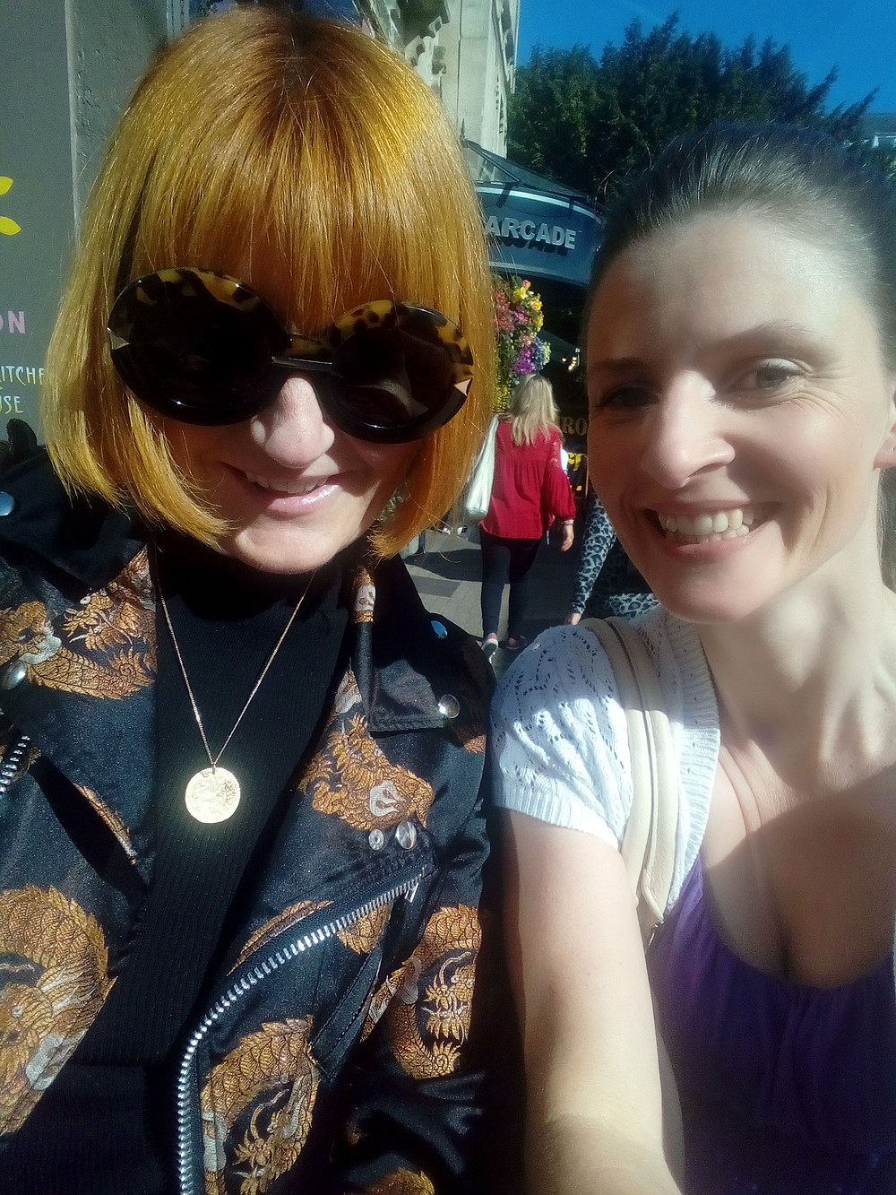 Mary Portas and Ali Walsh in Clifton, Bristol