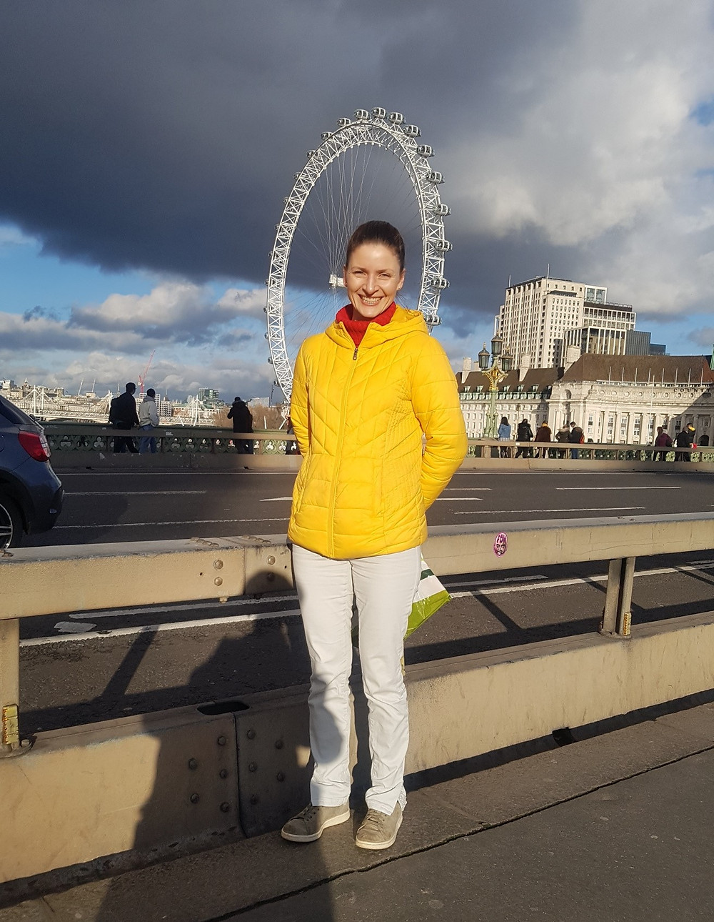 Ali Walsh at the London Eye