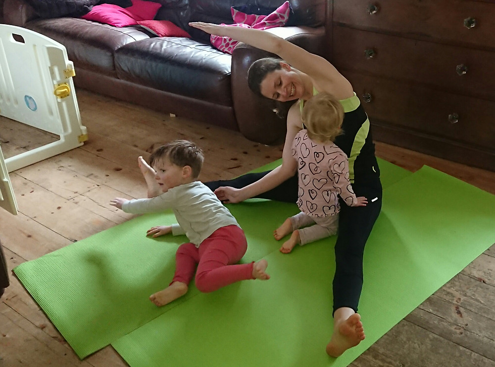 Exercising with children can be great fun!