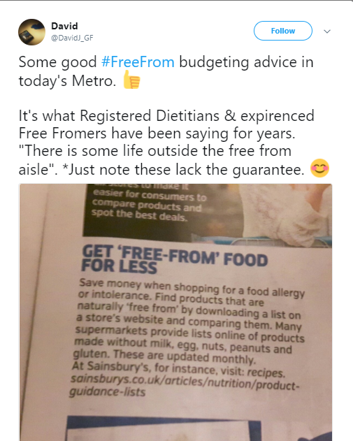 Get 'Free-From' Food For Less