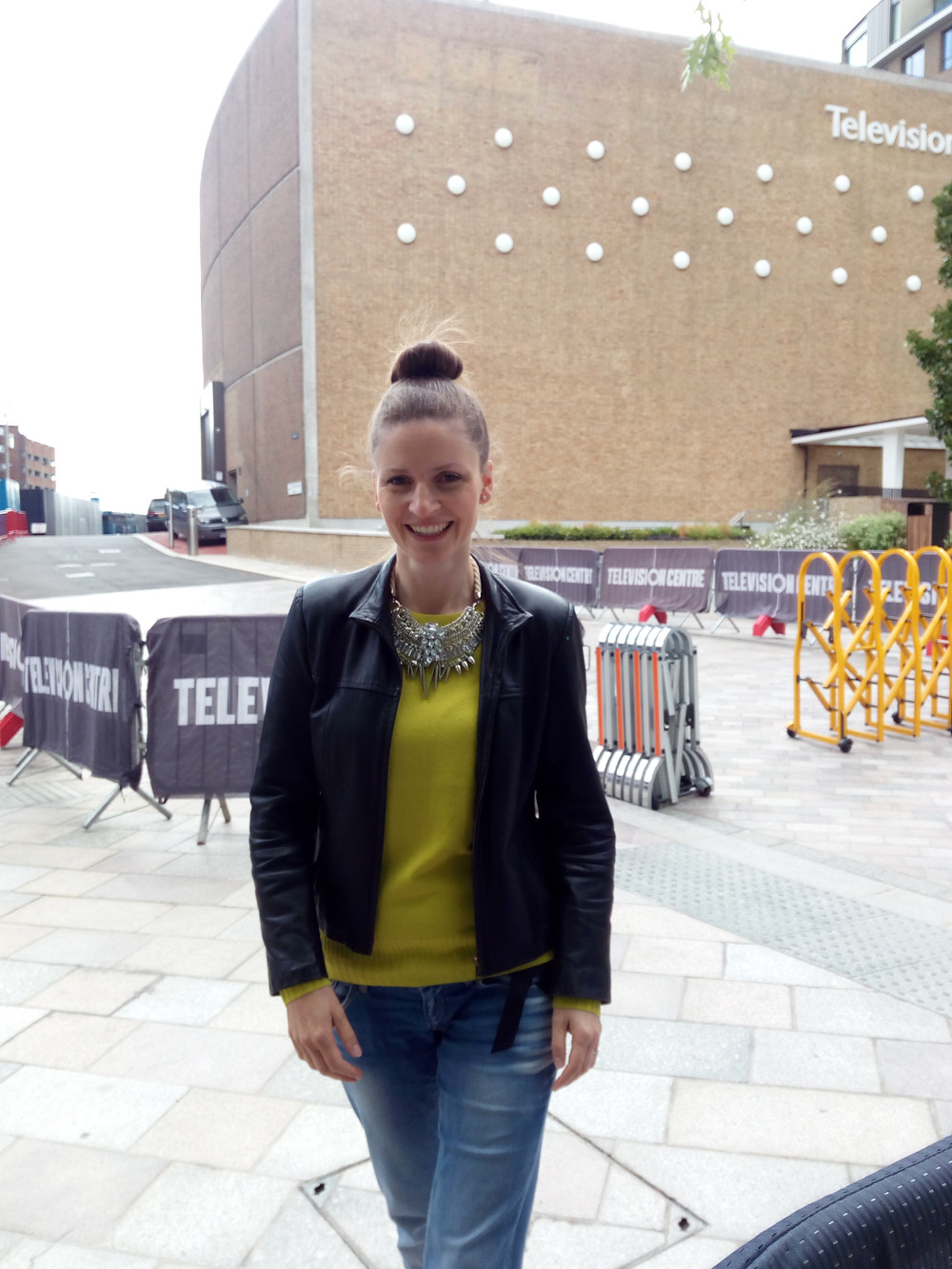 Me at the television centre for The Great British Bake Off
