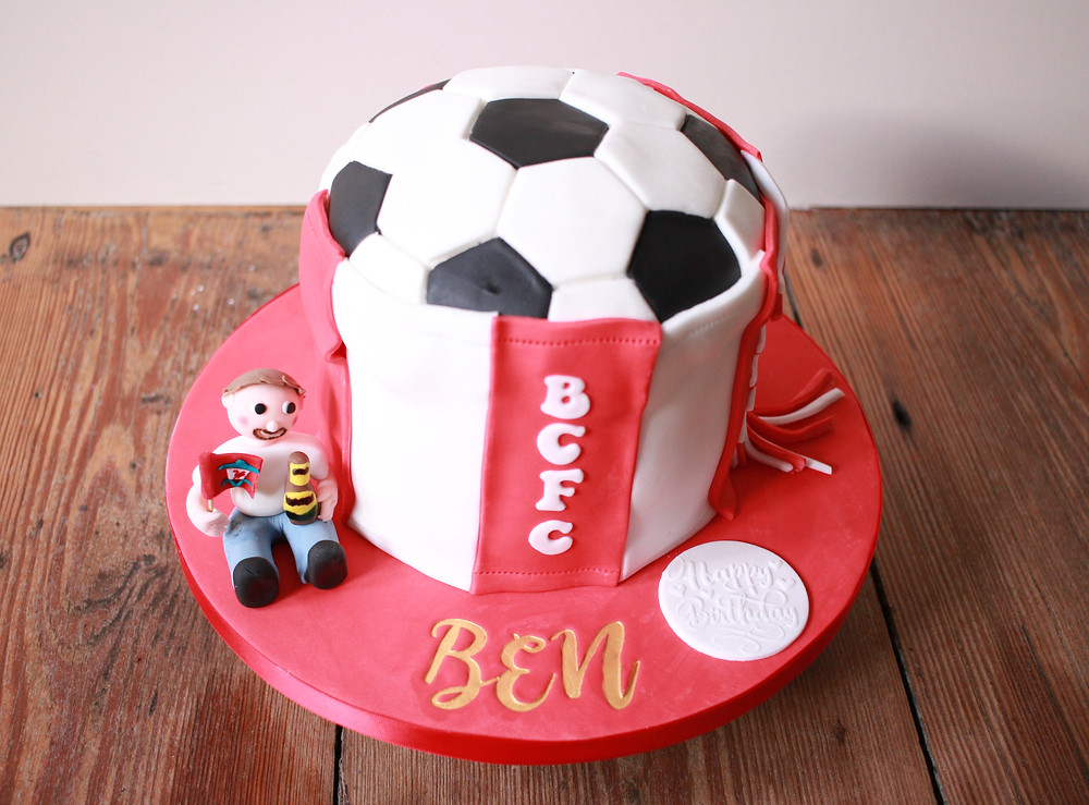 Bristol City football cake gluten-free