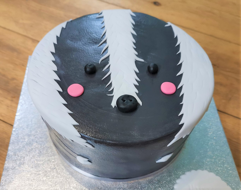Vegan badger cake