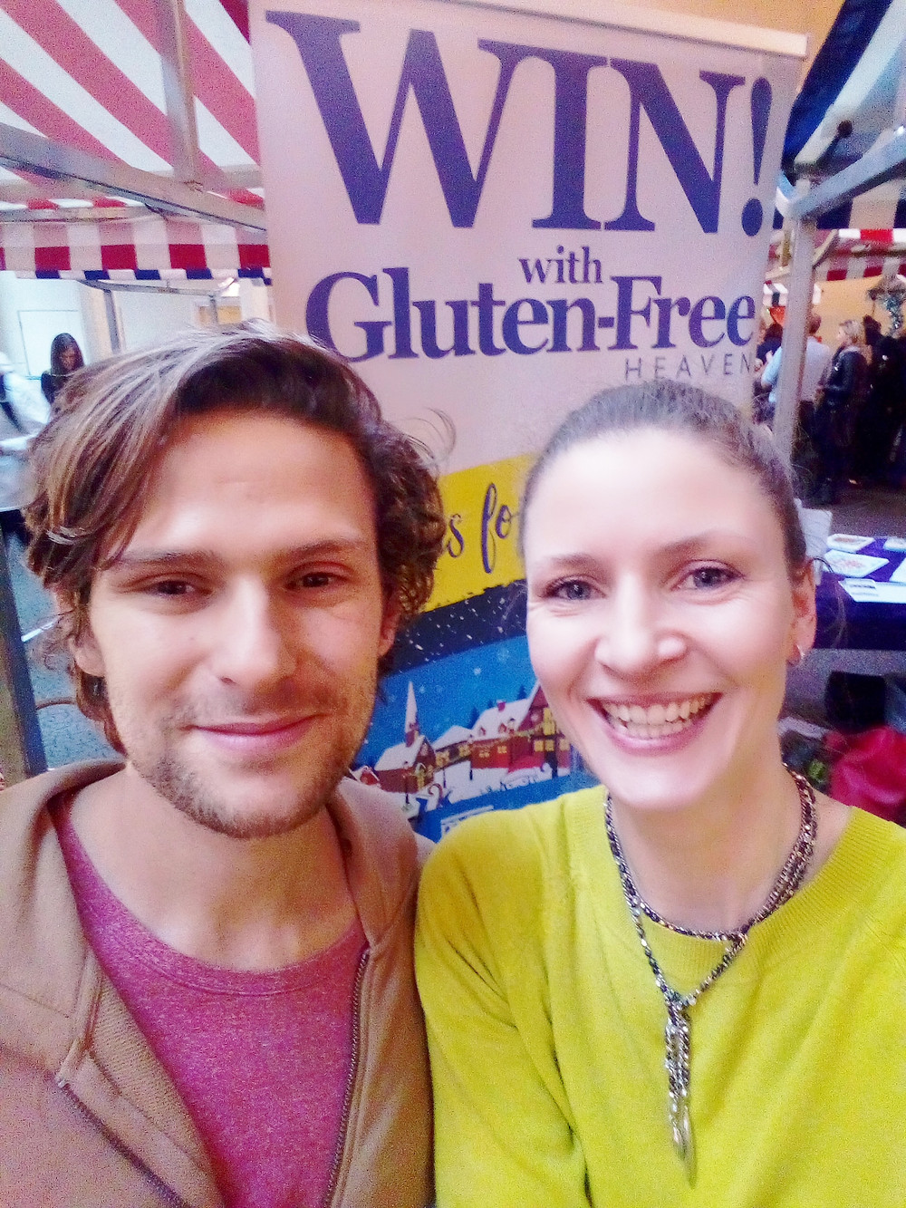 Ali at the Gluten-Free Heaven stand