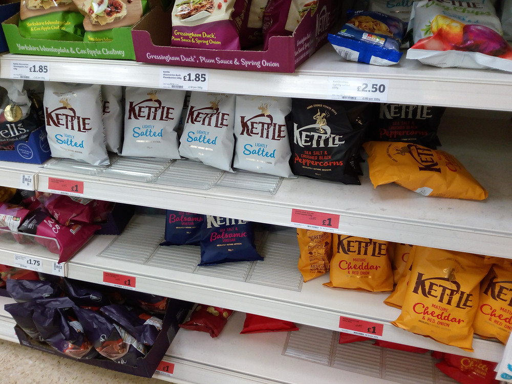Kettle chips reduced in price