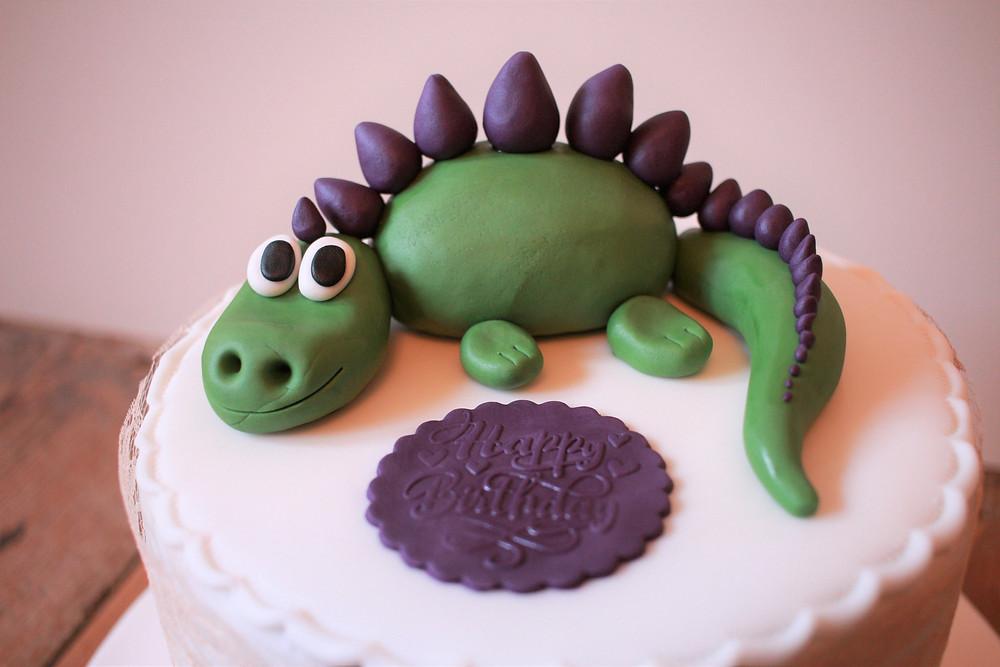 Gluten-free dinosaur cake