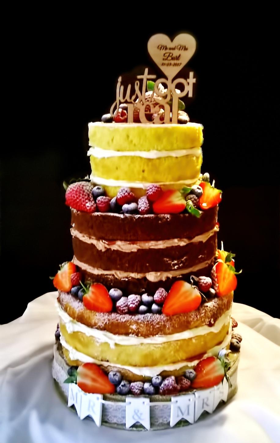 Just got real naked wedding cake gluten-