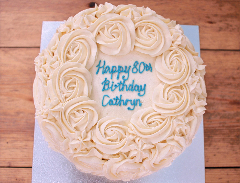 2D buttercream cake