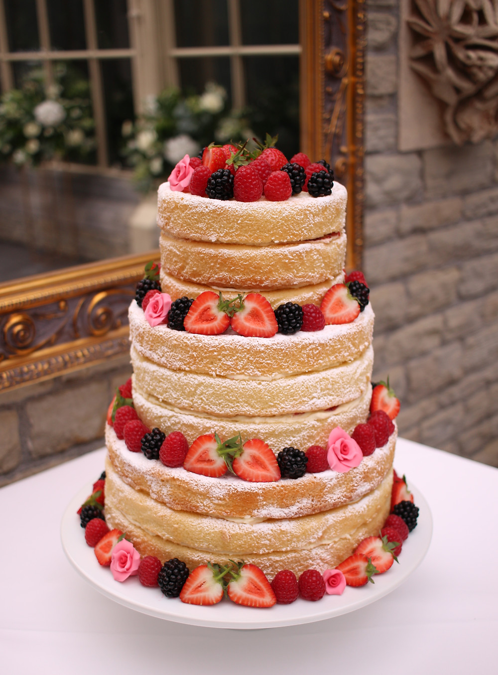 Gluten-free & dairy-free wedding cake by The Local Bakehouse