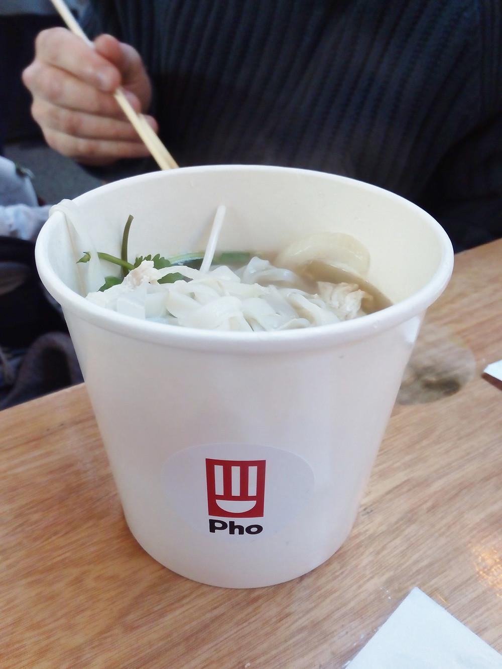 Pho gluten-free chicken noodles