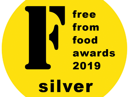 We won SILVER in the Free From Food Awards!