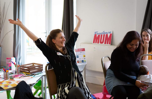 A euphoric moment at Freelance Mum!