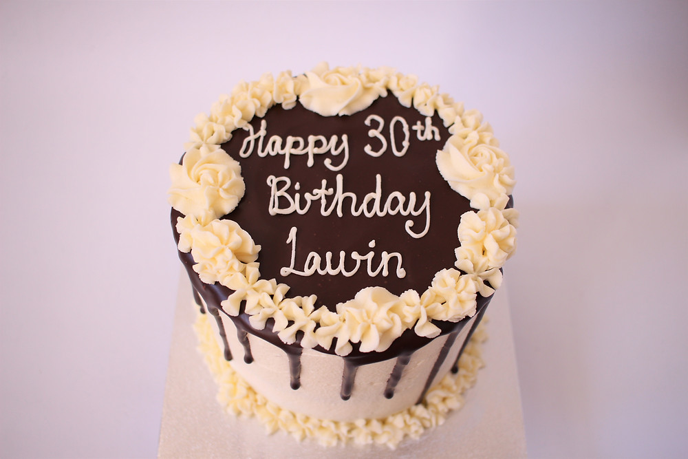 Gluten-free dark chocolate ganache drip cake