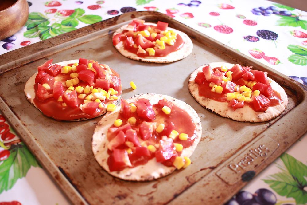 Homemade gluten-free pizzas