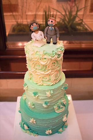 3 tier ombre buttercream wedding cake wi
