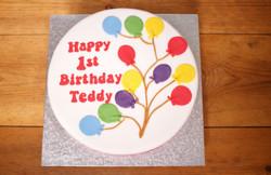 Balloon fondant birthday cake