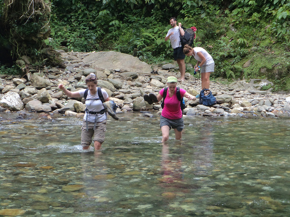 Me wading through a river...that was about to get deeper