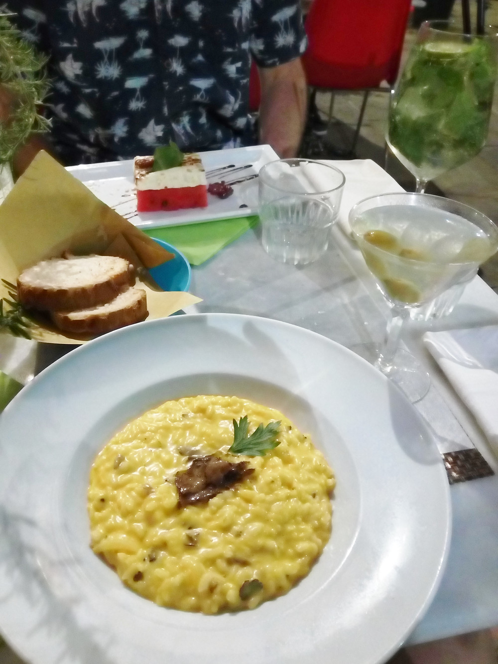 A gluten-free meal at Quinoa, Italy