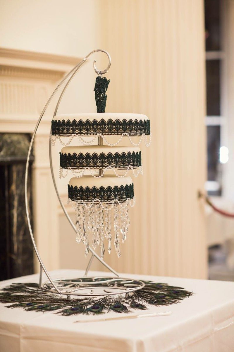 Chandelier wedding cake by The Local Bakehouse
