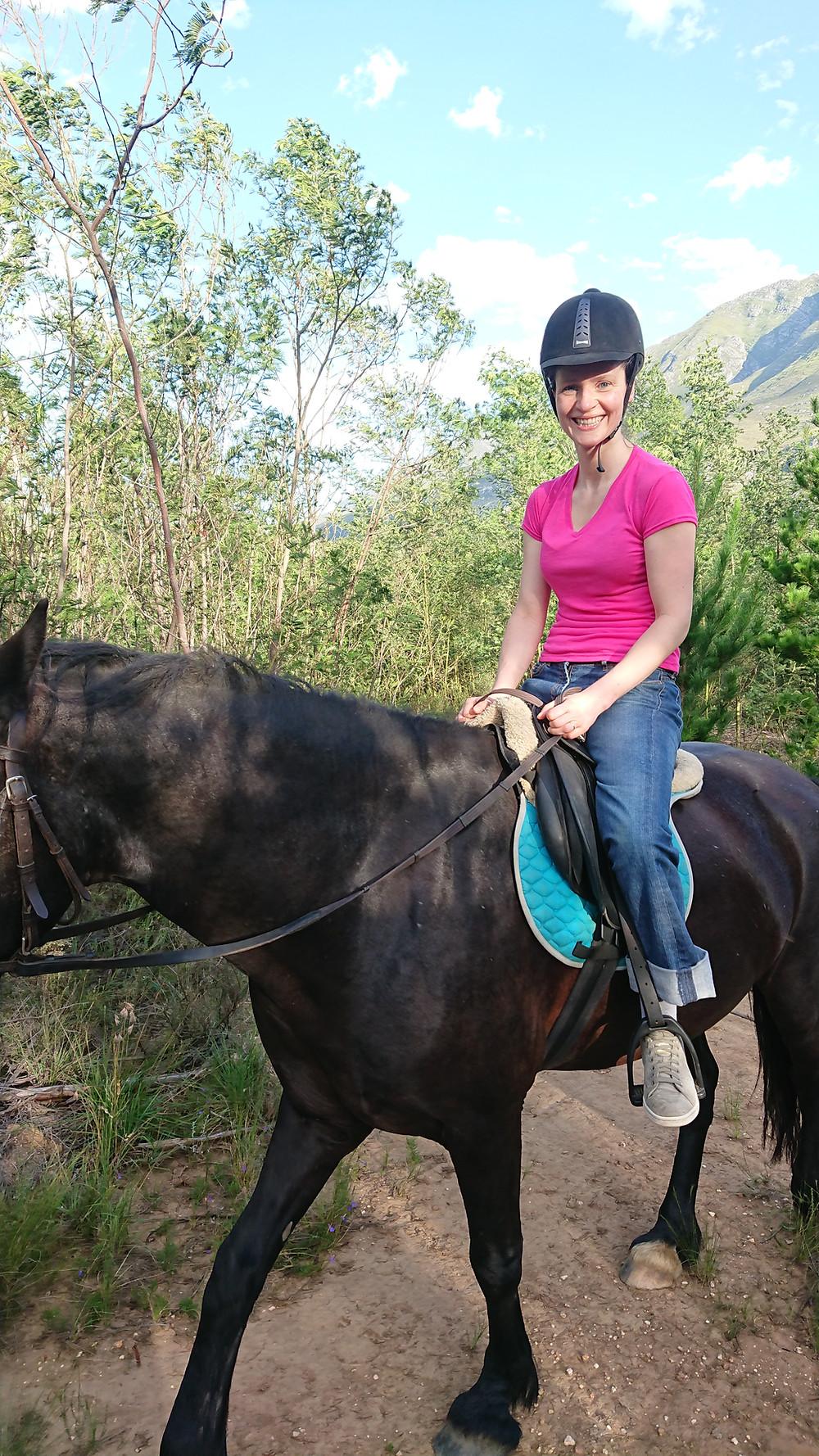 Ali horse-riding in Swellendam