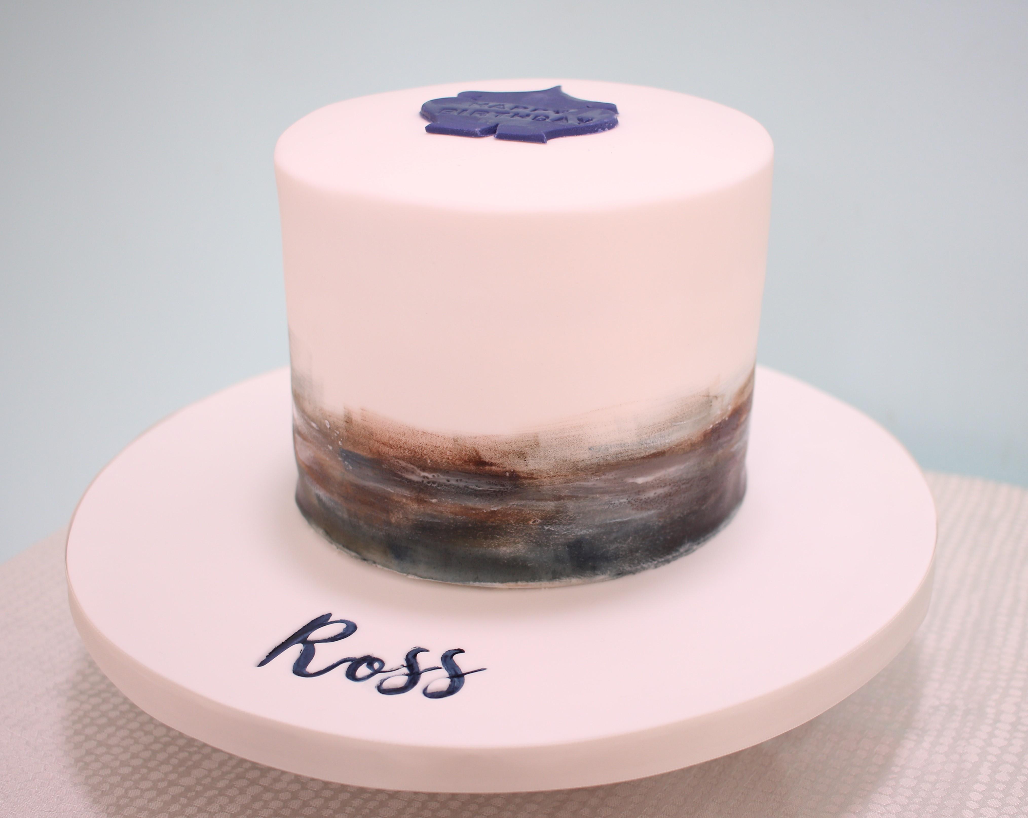 Painted fondant cake