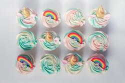 Unicorn & rainbow cupcakes