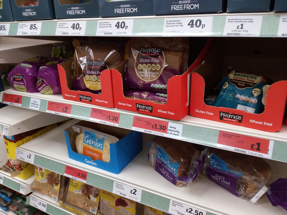 Price reductions on gluten-free food