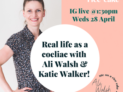 See my first coeliac interview on IG Live!