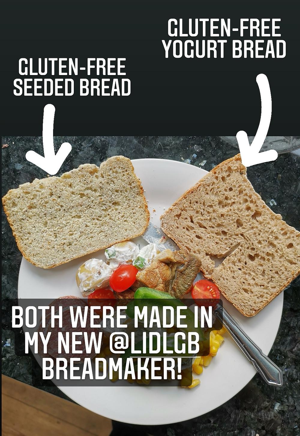 Gluten-free bread comparison