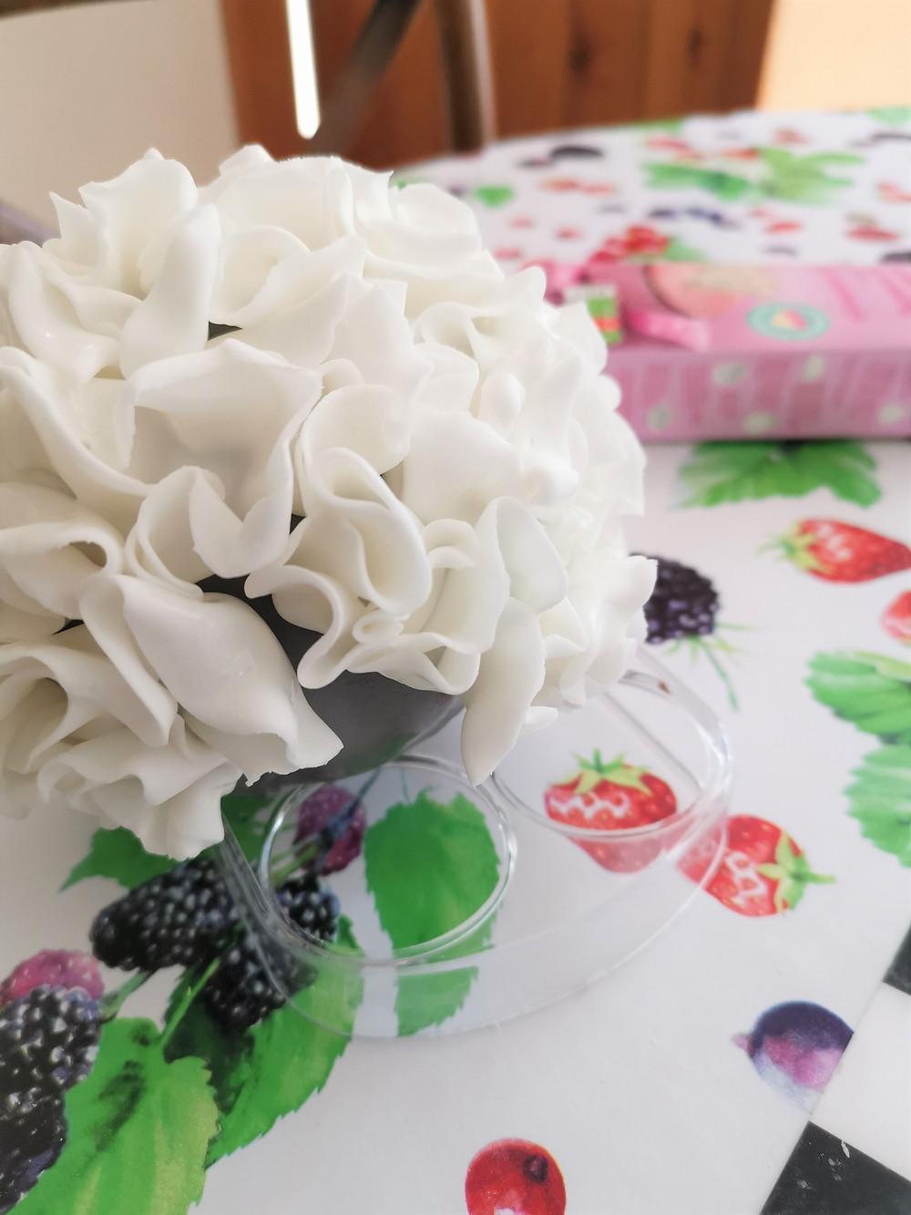 Gluten-free flower ball nearly finished