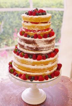 Vegan naked wedding cake