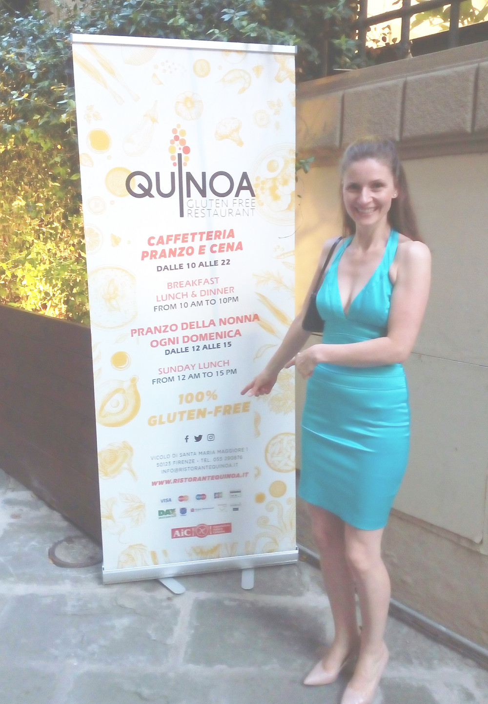 The 100% gluten-free restaurant Quinoa in the centre of Florence