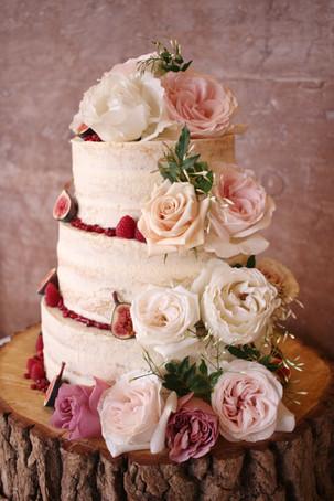 Vegan semi-naked wedding cake