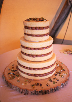 3 tier naked orange and chocolate cake