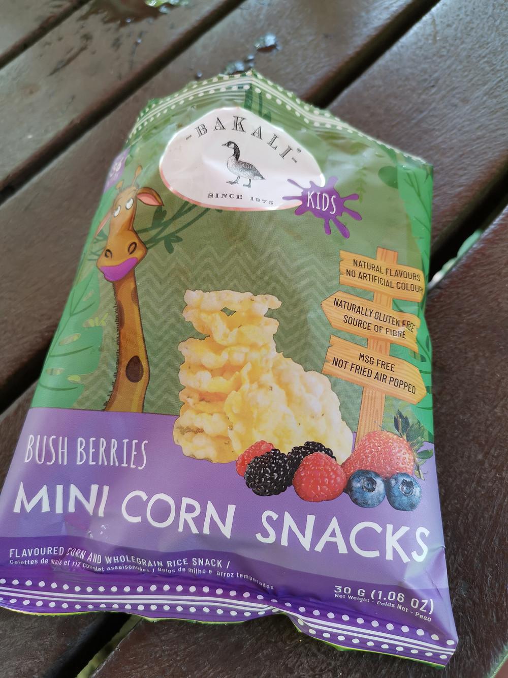 Bushberries mini corn snacks