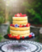 Gluten-free naked wedding cake