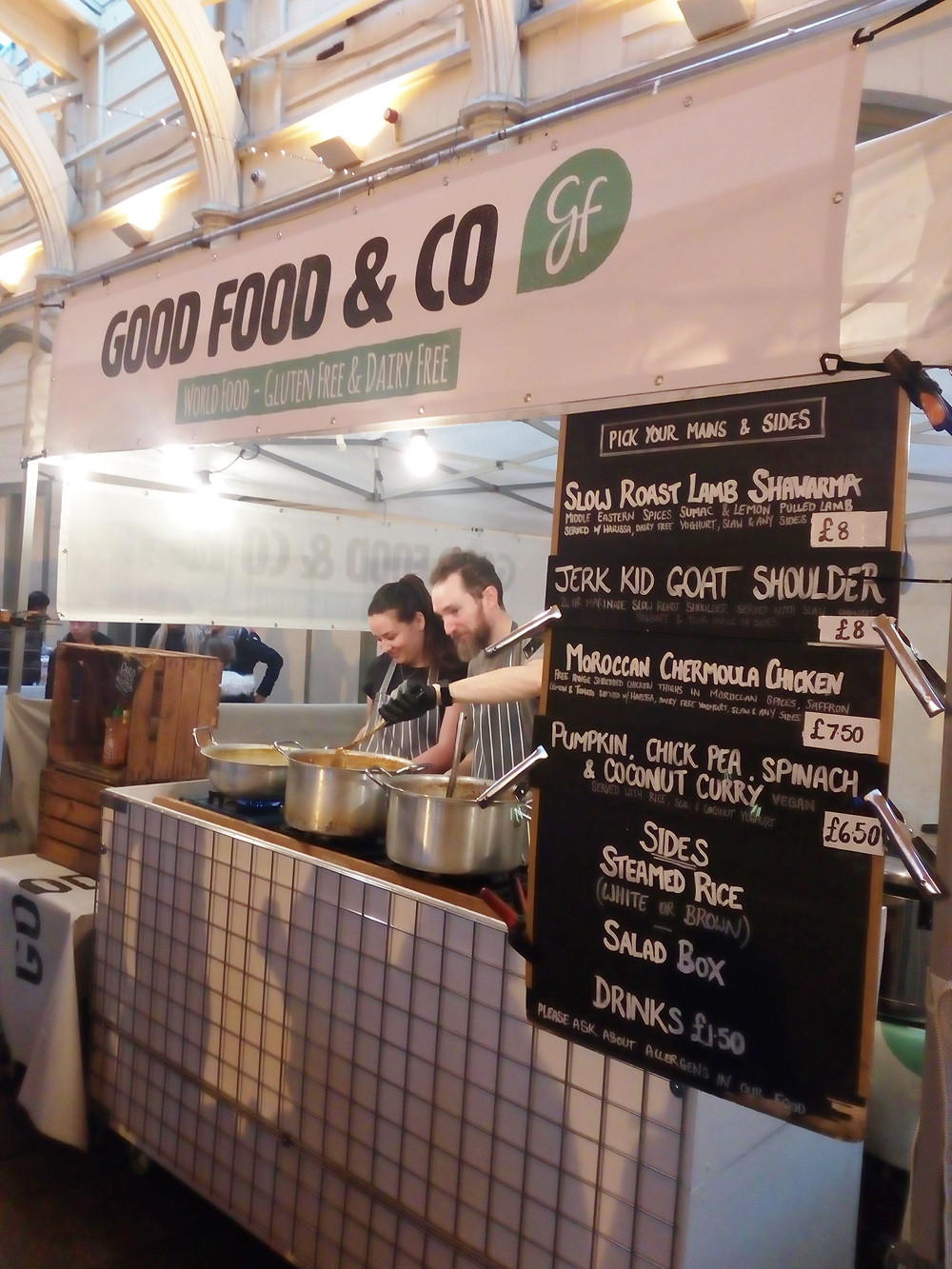 Good Food & Co's gluten-free world food stand
