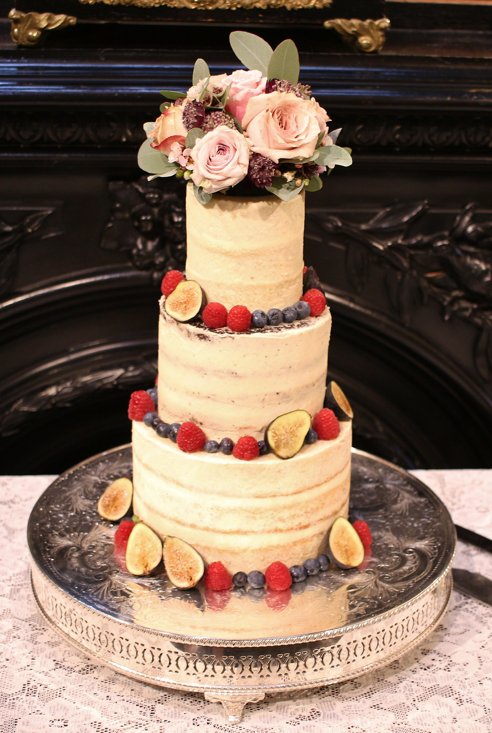 Gluten-free small 3 tier wedding cake