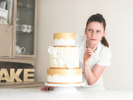 How do you decide on a wedding cake during covid?