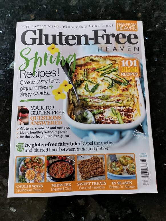 April's Gluten-Free Heaven magazine front cover