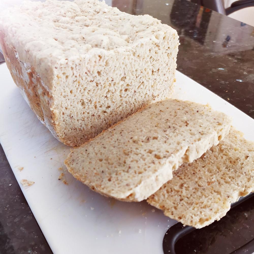 Sliced gluten-free seeded bread