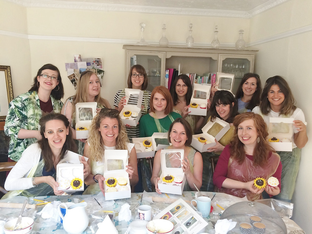 Hen party cupcake decorating course at The Local Bakehouse