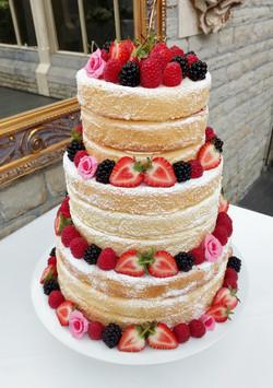 3 tier dairy-free naked wedding cake