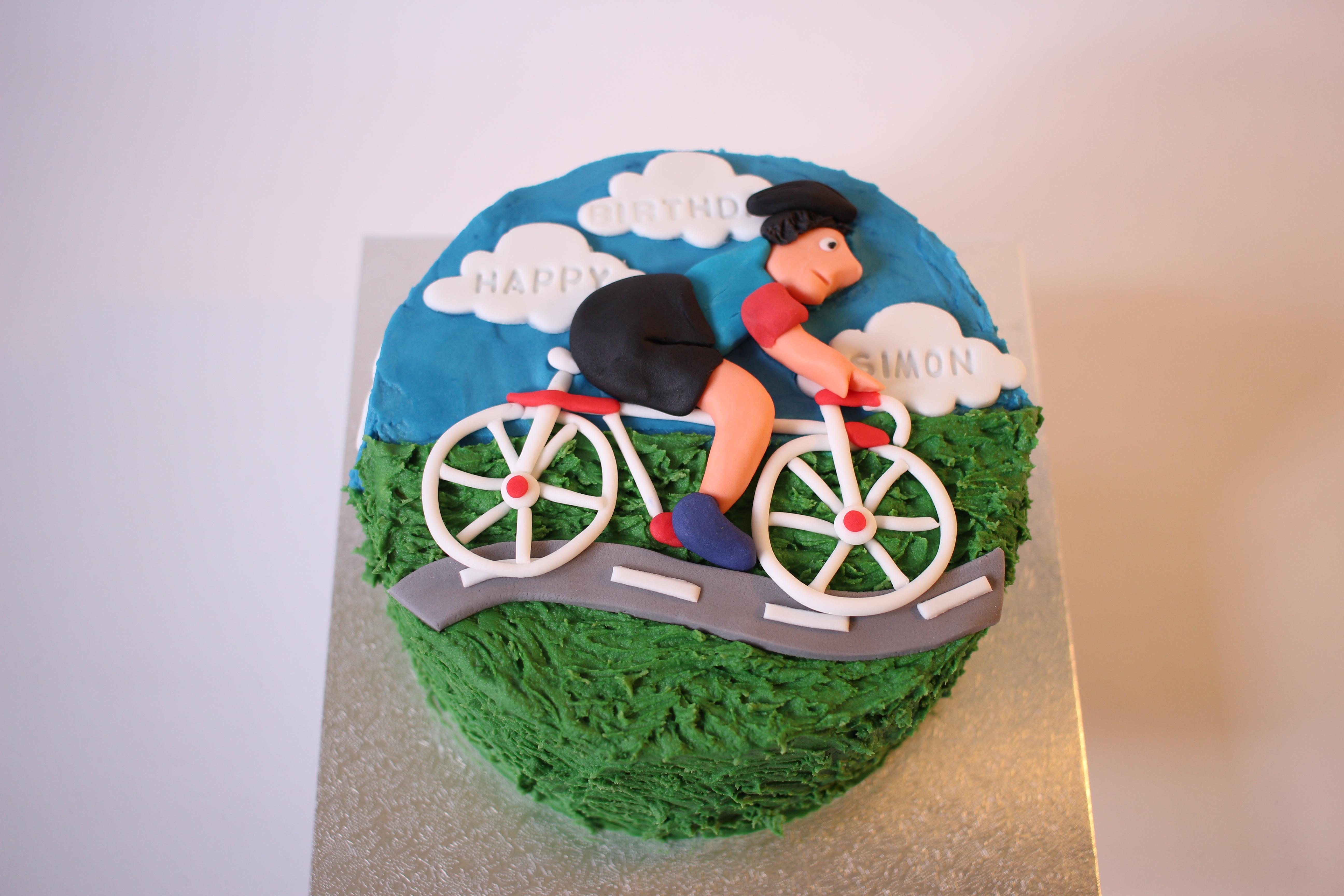 Cyclist on cake