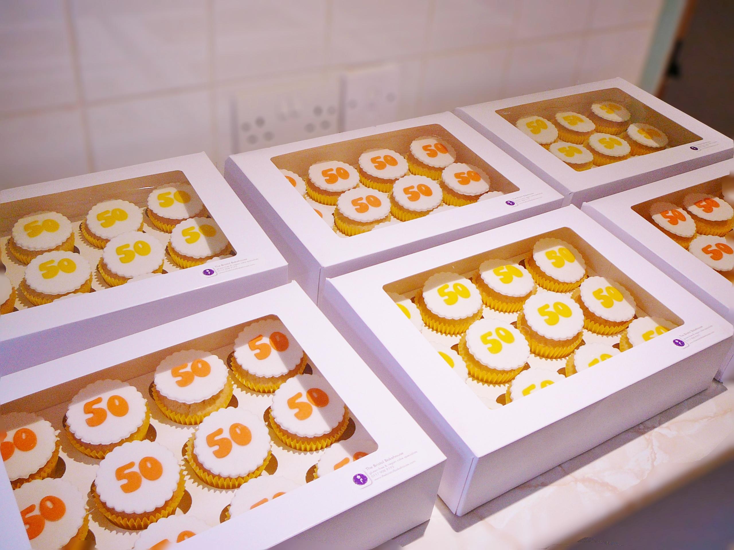 50th celebration cupcakes