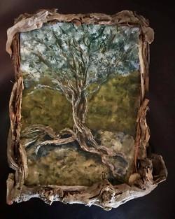 CHERYL LEEF MIXED MEDIA TREE