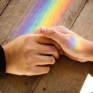 Die Herzlichen: Aufopfernden, Eltern, Ehepartner, Hände, Regenbogen